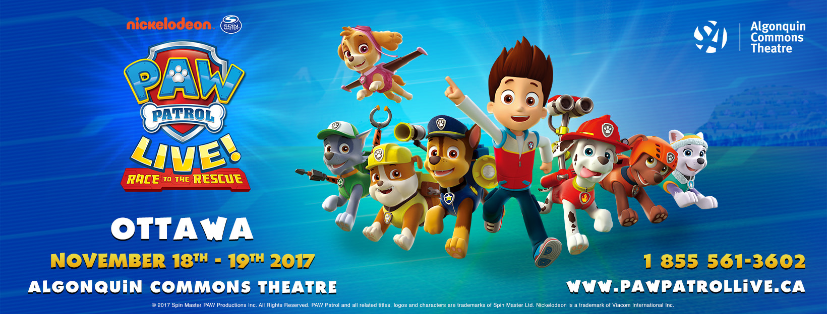 Algonquin College Students' Association | Paw Patrol Live